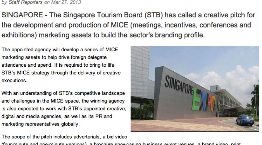 Singapore reviews BtoB tourism account