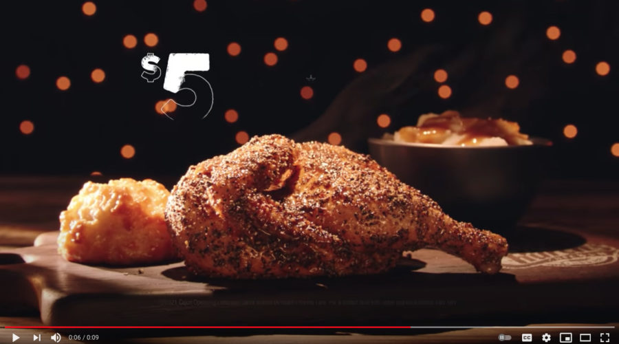 Chicken joint may now be ready to breakout creatively